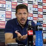 Simeone en sala de prensa (Atlético)