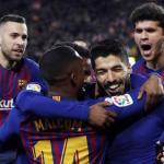 Alba, Malcom, Semedo, Suárez y Aleñá (FC Barcelona)