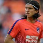 Filipe Luis en un entrenamiento / Atlético