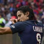 Cavani celebra un gol con el PSG (UEFA)