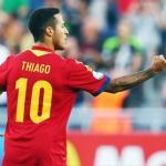 Thiago en un partido con España / Goal