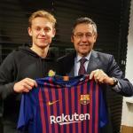 Frenkie de Jong y Josep María Bartomeu / FC Barcelona.