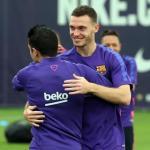 Vermaelen, durante un entrenamiento (FC Barcelona)