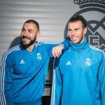 Karim Benzema y Gareth Bale, en un acto del Real Madrid / Facebook.