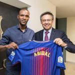 Abidal y Bartomeu (FC Barcelona)