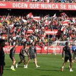 La plantilla del Sevilla FC, en un entrenamiento en el Sánchez Pizjuán / SFC.