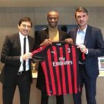 Leonardo, Djaló y Maldini, en la presentación del jugador portugués / AC Milan.