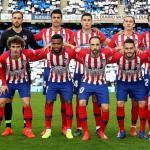 Jugadores del Atlético de Madrid en Anoeta / Facebook.