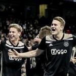 Los jugadores del Ajax, celebrando la victoria ante el Real Madrid / Facebook.