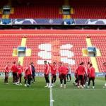 Entrenamiento del FC Barcelona en Anfield / Facebook.