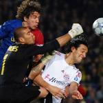 Luca Toni, contra el Barça (UEFA)