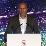 Zidane, durante su presentación (Real Madrid)