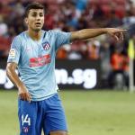 Rodrigo, durante un partido (Atlético de Madrid)