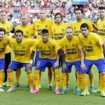Los jugadores del Barça, antes de un partido (FC Barcelona)