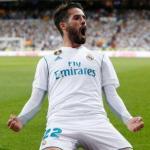 Isco Alarcón, celebrando un gol (Real Madrid)