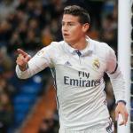 James en un partido / Real Madrid
