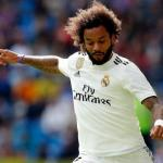 Marcelo, durante un partido (Real Madrid)