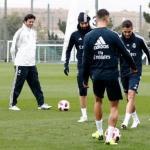 Solari, durante un entrenamiento (Real Madrid)