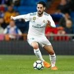 Isco Alarcón, durante un partido con el cuadro blanco (Real Madrid)