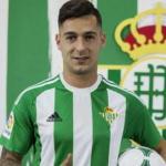Sergio León, en su presentación / Real Betis.