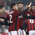 Jugadores del AC Milan celebran un gol / Youtube