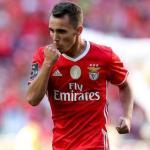 Grimaldo celebrando un gol con el Benfica (EFE)