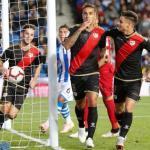 Trejo, celebrando un gol con el Rayo (EFE)