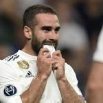 Carvajal en un partido con el Real Madrid. / defensacentral.com