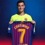 Coutinho en su presentación / Barça