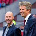 Ten Haag y Van der Sar durante un partido. / futbolsapiens.com