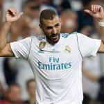 Benzema celebra un gol con el conjunto blanco (Real Madrid)