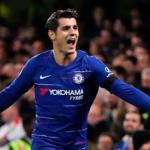Morata celebra un gol / Chelsea