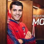 Álvaro Morata en el vestuario del Atlético. Foto: Atleticodemadrid.com