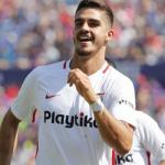 André Silva celebra un gol / Sevilla