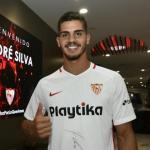 André Silva, el día de su llegada (Sevilla FC)