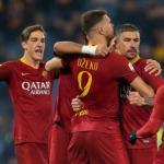 Jugadores celebran un gol / AS Roma