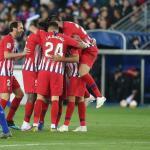Atlético de Madrid, celerando un gol / twitter