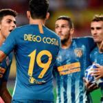 Atlético, celebrando un gol / twitter