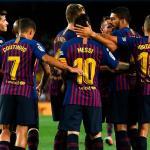 Jugadores del Barcelona celebrando un gol / twitter