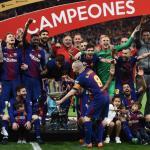 Jugadores del Barcelona celebrando un título / Sport Illustrated
