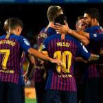 Barcelona, celebrando un gol en 2018 / twitter