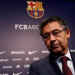 Bartomeu en rueda de prensa / Barcelona