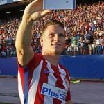 Kevin Gameiro, en su presentación con el Atlético de Madrid.