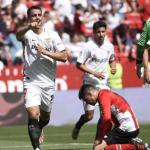 Ben Yedder celebra un gol ante el Athletic Club / Sevilla FC