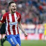 Saúl celebra un gol / Atlético