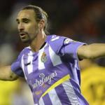 Borja Fernández celebra un gol con el Valladolid / LaLiga