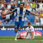 Borja Iglesias celebra un gol / La Liga