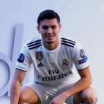 Brahim Díaz, en su presentación con el Real Madrid / Youtube.com.