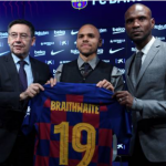"""El Barcelona busca un destino para Braithwaite./ Foto: Getty Images"""
