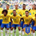 La selección de Brasil antes de un partido. / mega.cl